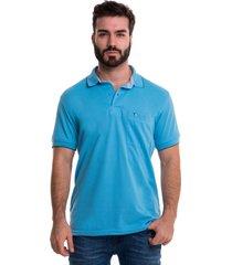 camiseta polo hamer, básica de hombre, casual, para uso diario, clásica color azul claro
