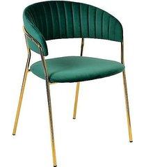 krzesło welwetowe milo ciemno zielone