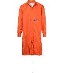 a-cold-wall* drawstring parka coat - orange
