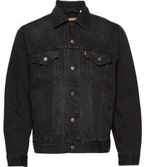 vintage fit trucker v black tr jeansjack denimjack zwart levi´s men