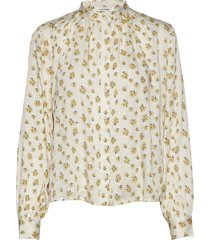 aline shirt overhemd met lange mouwen crème nué notes