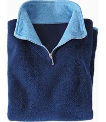 fleece visserstrui uit zuiver bio-katoen, nachtblauw/jeans m