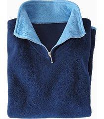 fleece visserstrui uit zuiver bio-katoen, nachtblauw/jeans xxl
