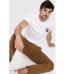 camiseta blanco-azul-dorado tommy hilfiger