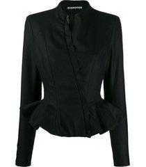 aganovich slim-fit peplum jacket - black