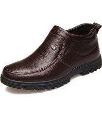 antiscivolo in vera pelle antiscivolo per uomo in caldo stivali casual