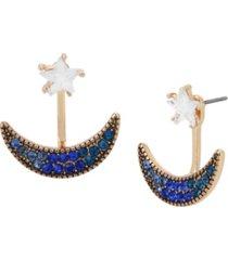 betsey johnson celestial front back earrings
