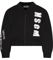 msgm black bomber jacket