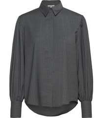 melisa pinstripe overhemd met lange mouwen grijs dagmar