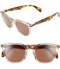 women's rag & bone 50mm round sunglasses - light brown