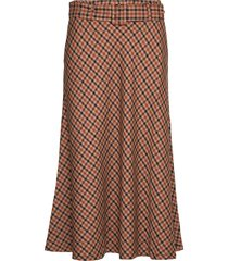 kadolores skirt min 4 pcs knälång kjol brun kaffe
