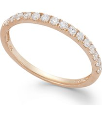 arabella 14k rose gold ring, swarovski zirconia wedding band (1 ct. t.w.)