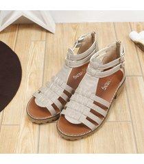 nueva mujer sandalias antideslizantes hebilla de tacón medio sandalias