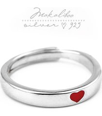 makaliboo obrączka serce - srebro 925 -box