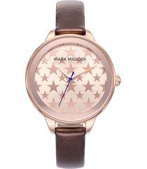 reloj marrón mark maddox mujer