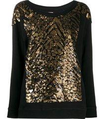 antonio marras sequinned sweatshirt - black