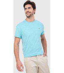 camiseta azul aguamarina  tommy jeans