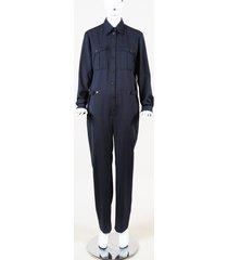 pallas wool coverall jumpsuit blue sz: xs