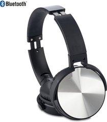 audifonos bluetooth dj plasticos auriculares acolchados - silver