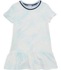 little girl's tie-dyed cotton-blend dress