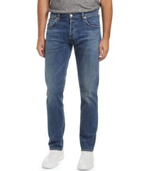 men's citizens of humanity men's adler tapered classic straight leg stretch jeans, size 34 - blue