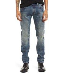 men's cult of individuality men's rocker slim skinny leg nonstretch jeans, size 38 - blue