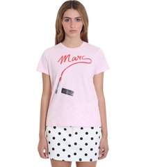 t-shirt in rose-pink cotton