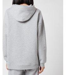 ganni women's software isoli hooded sweatshirt - paloma melange - l/xl