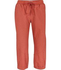 pantaloni capri in misto lino con impunture modellanti (marrone) - bpc bonprix collection