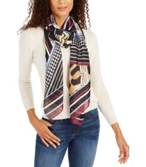 inc animal status printed scarf, created for macy's