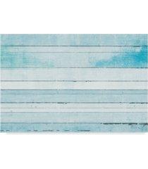 "michael mullan beachscape ix blue canvas art - 37"" x 49"""