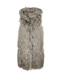 herno fur applique padded down jacket