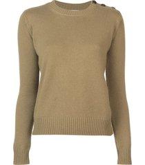 alexandra golovanoff long-sleeve fitted sweater - green