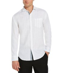 cubavera men's embroidered one-pocket shirt