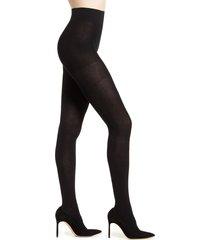 women's falke family cotton 94 opaque tights, size medium - black