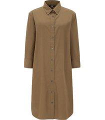 extra fine cotton 3/4 sleeve shirt dress