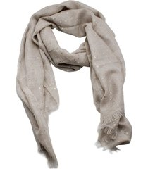 brunello cucinelli cashmere silk scarf with micro sequins