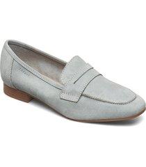 formal shoes leather loafers låga skor grå esprit casual