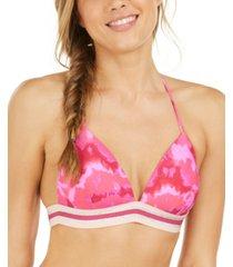 hula honey juniors' hana beach tie-dye banded push-up bikini top, available in d/dd, created for macy's women's swimsuit