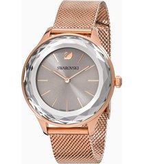 orologio octea nova, bracciale milanese, grigio, pvd oro rosa