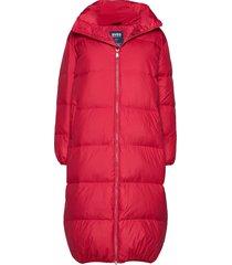 elina jacket gevoerde lange jas rood svea