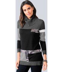 trui alba moda zwart::grijs::zilverkleur
