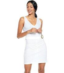 vestido blanco mng