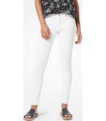 mk jeans skinny selma - bianco (bianco) - michael kors