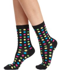 hot sox women's fun dot fashion crew socks