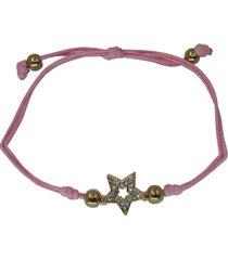 pulsera estrella rosa pu-10785