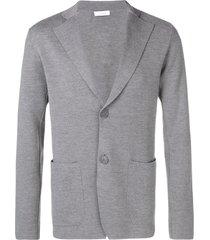 cruciani fine knit blazer - grey