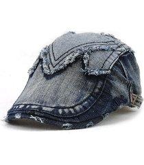 uomo donne casual cotone berretto da berretto da cappello protezione uv  protezione da sole cappello flat 45a46cc69566