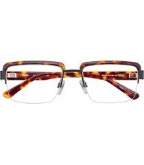 bmw optical b6048  eyeglasses 010 demi amber & black