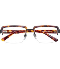 bmw optical b6048  eyeglasses 010 demi amber & black